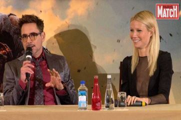 Gwyneth Paltrow et Robert Downey Jr, couple star dans Iron Man 3