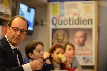 François Hollande, rédacteur en chef d'un jour