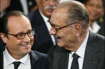 Jacques Chirac tout sourire aux côtés de Hollande