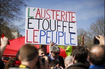 Manifestation anti-austérité à Paris
