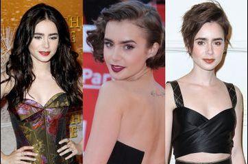 Lily Collins en 10 coupes de cheveux