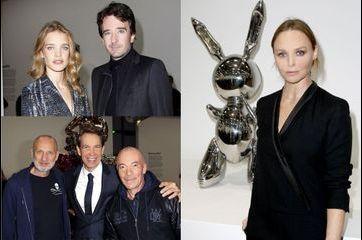 L'exposition de Jeff Koons attire les célébrités