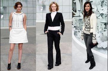Les égéries stars réunies au défilé Chanel Couture