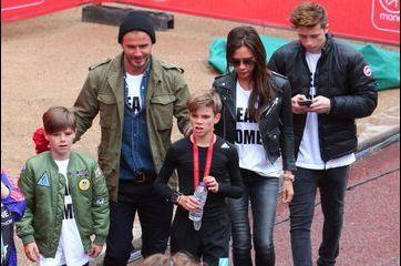 Le cadet du clan Beckham au marathon de Londres