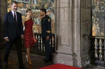 Letizia flamboyante à Mexico