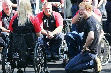 Harry, parmi ses champions blessés