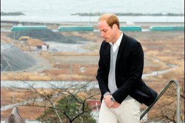 Le prince William prie pour les victimes du tsunami de 2011