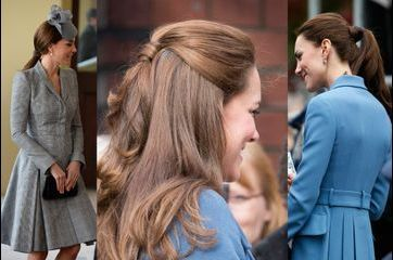Quand Kate fixe ses cheveux avec… ses cheveux