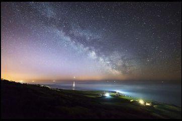 Les lumières de la Voie Lactée