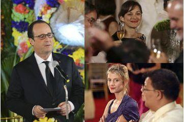 Deux actrices et un président pour le dîner d'Etat