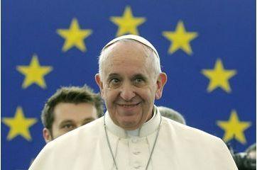 Le pape François devant le Parlement européen