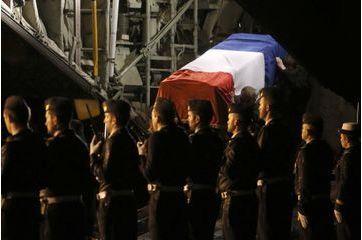 Les corps des soldats Français rapatriés à Nancy