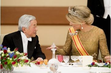 Akihito et Michiko, un banquet d'état pour Willem-Alexander et Maxima