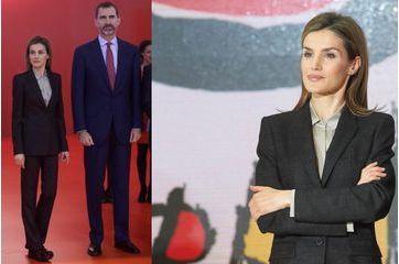 Letizia opte pour un look masculin
