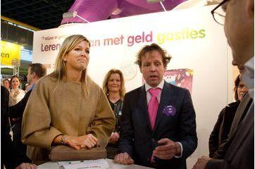 Maxima, conseillère financière pour les petits Néerlandais