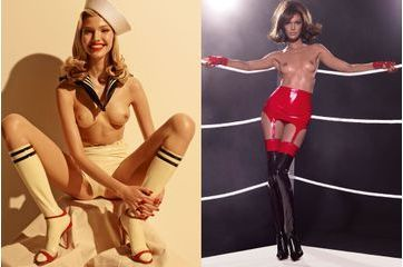 Des pin-up latex hot et sexy