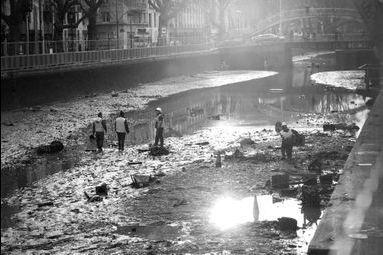 Mise à nu du Canal Saint-Martin à PARIS