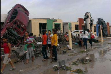Une tornade ravage la ville de Ciudad Acuña