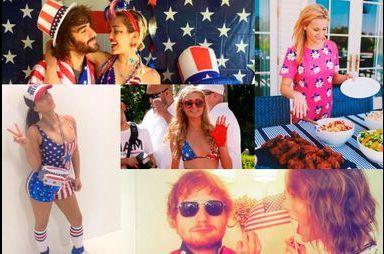 Les stars américaines fêtent l'Independance day
