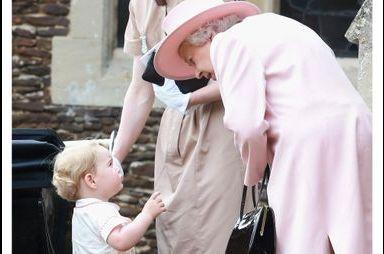 Mais que voulait dire George à la reine ?