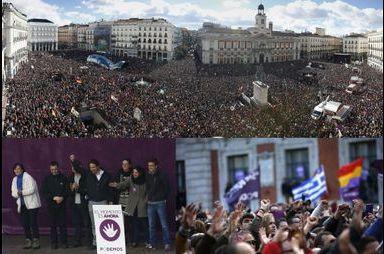 A Madrid, Podemos prend la rue