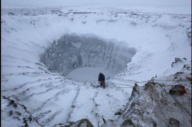 Un cratère en Sibérie