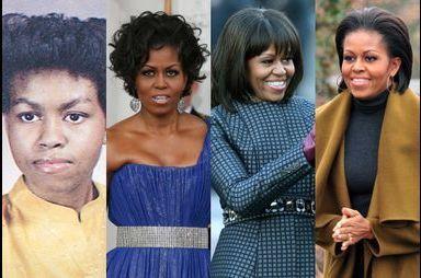 Michelle Obama en 15 coupes de cheveux