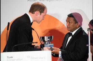 William récompense les défenseurs de la faune africaine