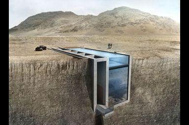 La maison dans la falaise