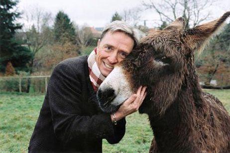 Pascal Sevran et son âne