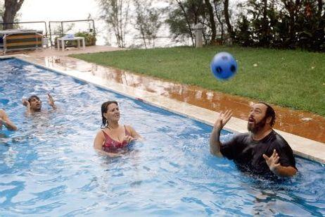 Pavarotti en vacances au mois d'Août