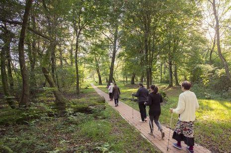 Des patients du Ruskie Piaski font de l'exercice, avril 2012.