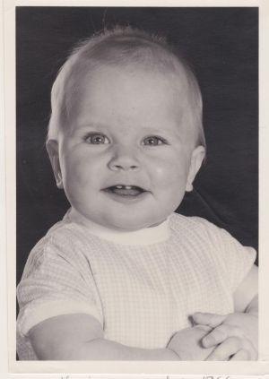 Monica Van Langendonck âgée de 7 mois