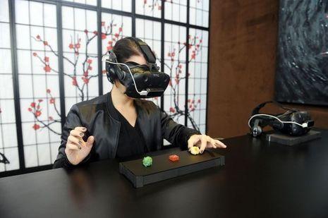 L'expérience de dégustation en réalité virtuelle.