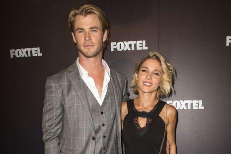 Chris Hemsworth et son épouse, Elsa Pataky, à Sydney le 30 octobre dernier