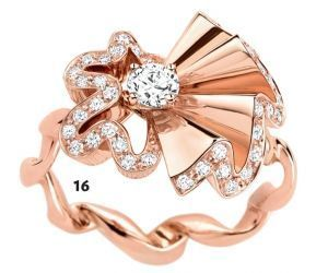 16. Bague Cocotte, or rose et diamants, Dior Joaillerie, 6 500 €.
