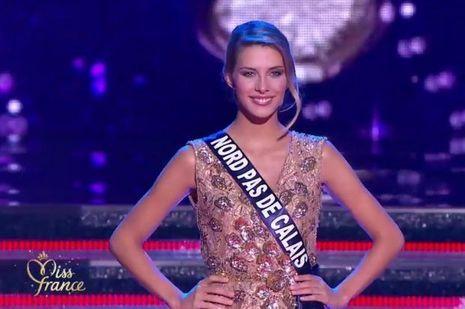 Camille Cerf, Miss Nord-pas-de-Calais, a séduit le public français