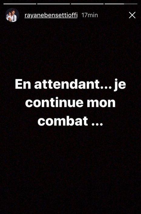 La Story Instagram de Rayane Bensetti, le 8 janvier 2018.
