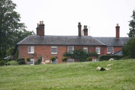 La maison actuelle des Middleton à Bucklebury, en 2012