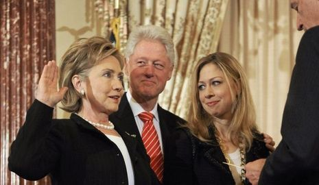 actu-monde-Bill, Hillary, Chelsea Clinton--