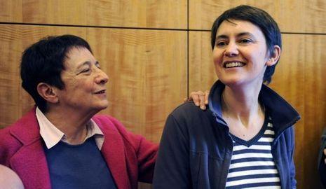 actu-politique-Arlette Laguiller et Nathalie Arthaud--Arlette Laguiller Nathalie Arthaud