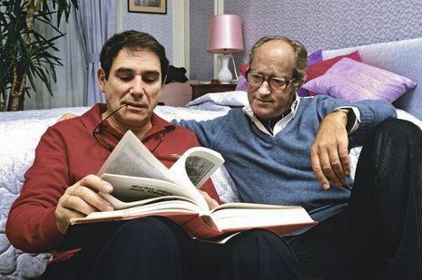 Alain Decaux et Robert Hossein