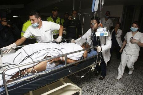 Alan Ruschel, l'un des premiers survivants conduits à l'hôpital après le crash.