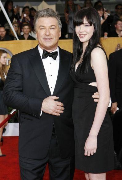 Alec Baldwin et sa fille Ireland - portrait-
