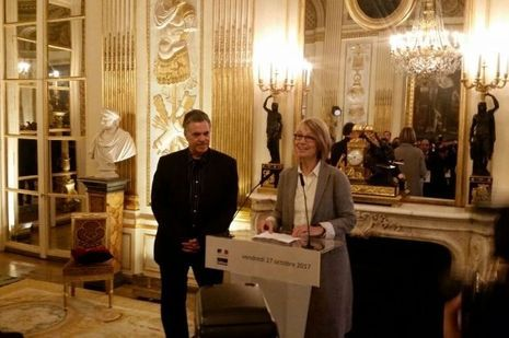 Amos Gitai et Françoise Nyssen.