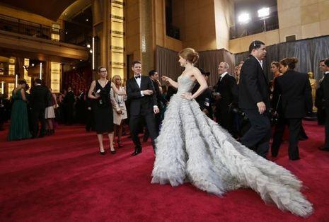 Amy Adams aux Oscars en 2013, portait l'une de ses créations