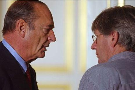 Jacques Chirac et Michel Baloche en 2002.