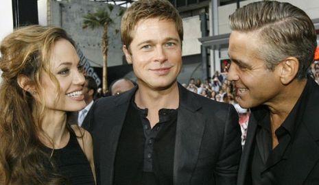 Angelina Jolie Brad Pitt George Clooney-