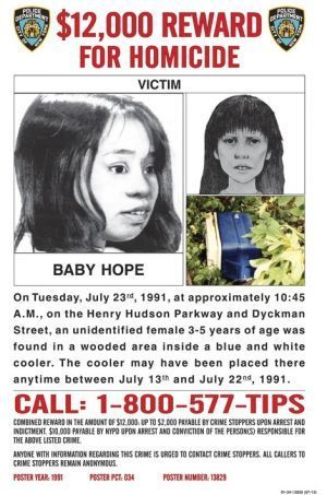 Appel à témoins pour Baby Hope.
