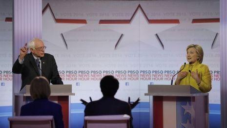 Bernie Sanders face à Hillary Clinton